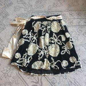 Anthropologie Burlapp Floral Skirt, XS
